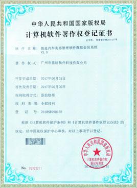 头头国际汽车美容软件著作权证书
